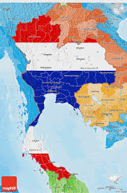3d Map Of The World by Flag 3d Map Of Thailand Political Shades Outside