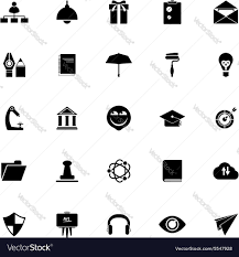 White Font Resume Job Resume Icons On White Background Royalty Free Vector