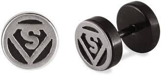 superman earrings flipkart buy superman silver symbol metal stud earring