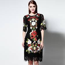 black lace dress women knee length vintage bodycon slim sheath