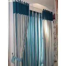 Blue And White Striped Drapes Popular Blue White Chenille Striped Curtains