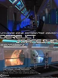 derelict spaceship corridors 3d models cybertenko