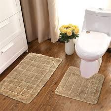Bathroom Contour Rugs Hebe Microfiber Bathroom Contour Rugs Combo Set Of 2