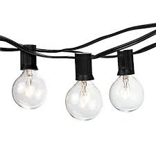 brightech ambience outdoor string lights with 25 g40 clear