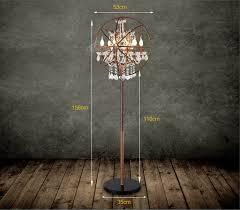 Vintage Retro Floor Lamp Vintage Loft Floor Lamp Retro Industrial Metal Crystal Sphere