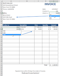 Excel Invoice Template 2010 Automated Invoice In Excel Easy Excel Tutorial
