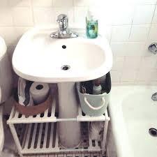 storage ideas for bathroom with pedestal sink bathroom sink organizer under pedestal sink storage under pedestal