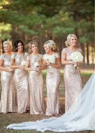bridesmaid dresses uk chagne sequin cap sleeves mermaid bridesmaid dress