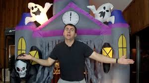 halloween review 9 5 u0027 airblown inflatable gemmy haunted house