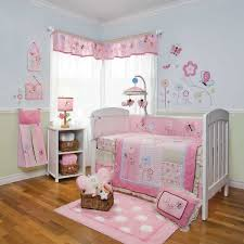 Baby Nursery  Impressive Baby Girl Room With Flower Pattern Bed - Baby girl bedroom ideas decorating