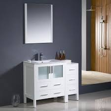 bathroom vanity with side cabinet fresca fvn62 3012wh uns torino 42 white modern bathroom vanity w