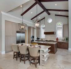 classic modern minimalist vaulted ceiling kitchen lighting with