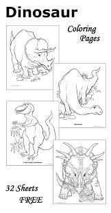 dinosaur coloring pages 32 free sheets print color
