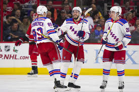 hurricanes lay an egg fall to visiting rangers 6 1 on