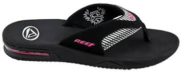 reef fanning flip flops womens reef sandals fanning flip flops black pink stripes world wide