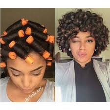 simple hairstyles for relaxed hair image result for perm rod roller set on relaxed hair hairstyles