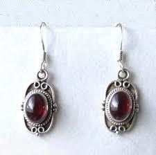 garnet earrings garnet silver earrings gemstone silver jewelry