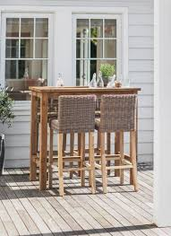 Teak Bar Table Teak Bar Table And Chairs Hardwood Ash Wicker Outdoor Stool 2pk