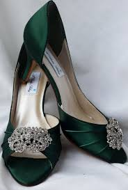 wedding shoes green green wedding shoes with vintage style rectangle brooch