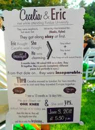 personalized wedding programs so cool our story on one side and the ceremony program on the