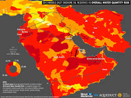 Blank Middle East Map by Water Risks On The Rise For Three Global Energy Production