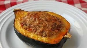 sausage and rice stuffed acorn squash recipe allrecipes