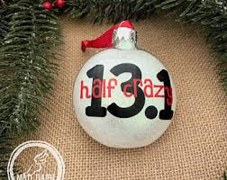 items similar to half ornament personalized half marathon