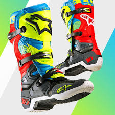 dirt bike racing boots 2018 alpinestar tech 10 union limited edition motocross boots