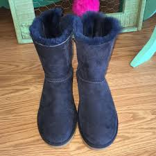 s navy ugg boots 61 ugg shoes ugg boots authentic bow navy sz 7 from