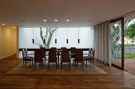 Long Dining Room Table And Interior At Contemporary Architecture - Long dining room table