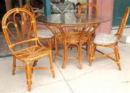 Bamboo Patio Set by Retro Metal Lawn Chairs Retro Metal Gliders Retro Metal Tables
