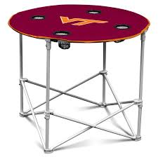 retractable table amazon com arizona state sun devils collapsible round table with
