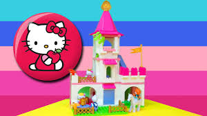 Hello Kitty Flag Playbig Bloxx Hello Kitty Princess Castle 800057047 Review Youtube