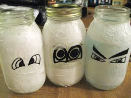 halloween mason jar crafts diy mummy mason jars make something mondays