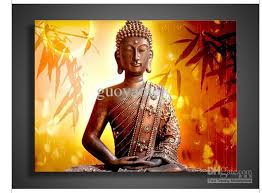 religion buddha wall painting on canvas pop living room