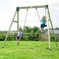 Double Swing Wooden Swings Comparison Site Tp Forest Double Swing 2