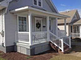 vinyl porch railing installation vinyl railing utica poly