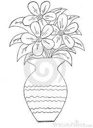 Vase Of Flowers Drawing Gallery Drawing Pictures Of Flower Vase Drawing Art Gallery