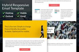 Responsive Email Template by Hybrid Responsive Email Template Email Templates Creative Market