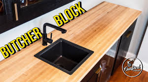 kitchen cabinet colors with butcher block countertops how to build install butcher block countertops home bar pt 4