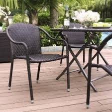 Patio Stack Chairs Stacking Chair Patio Set Foter