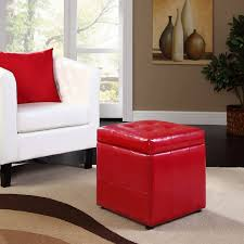 chair cool gray ottoman red leather coffee table ottomans for