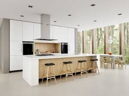 kitchen island sydney white minimalist modern kitchen sydney dan kitchens