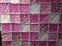 roses rag quilt blanket shabby chic rag quilt by nanaswoolies