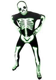 skeleton glow morphsuit costume halloween skeleton costume