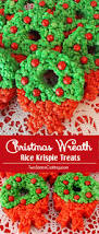 christmas wreath rice krispie treats two sisters crafting