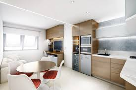 others charming large orange open plan living room near kitchen