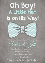 bow tie baby shower invitations oh boy light blue gray white bow tie baby boy