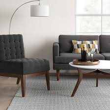 Tufted Slipper Chair Sale Design Ideas Newark Tufted Slipper Chair With Wood Base Project 62 Target