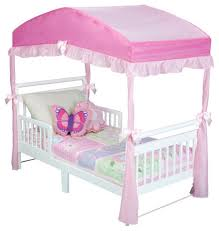 Toddler Bed With Canopy Delta Children Toddler Bed Canopy Pink Toys R Us